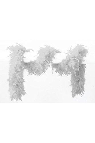 Jannes 21000 Deluxe Federboa ca. 180cm. 65gr. - Weiß (Weiße Feder Boa)