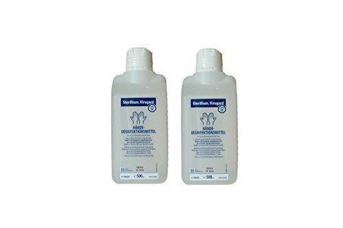 2 Stück Sterillium Virugard Hände-Desinfektionsmittel 500 ml (Entzündliche Bedingungen)