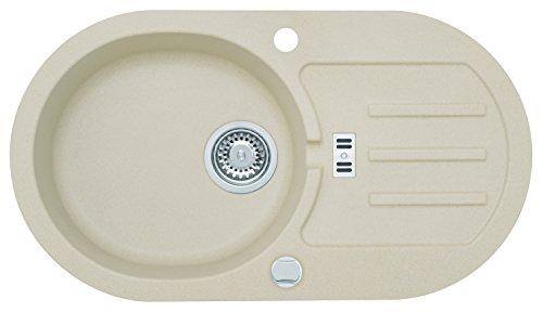 AXIS KITCHEN Malibu 30 Spülbecken Einbecken Spüle 77x43cm Material Axigranit Küchenspüle Farbe Caffee Latte