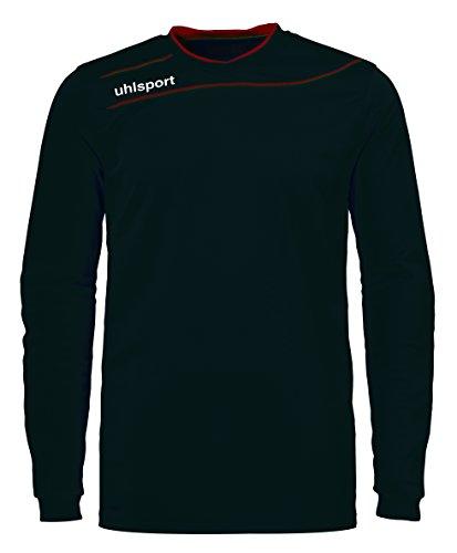 uhlsport STREAM 3.0 GK avec renforts - Maillot de Gardien Football - Manches longues - Technologie Smartbreathe - noir/rouge - FR : S (Taille Fabricant : S)