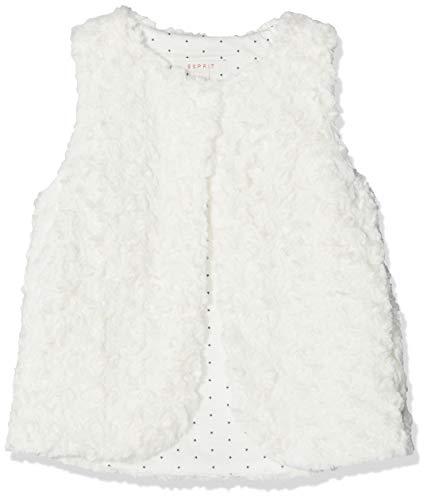 ESPRIT KIDS Mädchen Indoor Vest Weste, per Pack Weiß (Off White 110), 104 (Herstellergröße: 104+) -