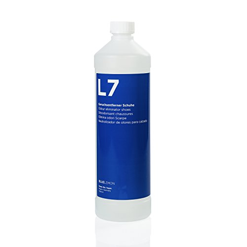 BLUELEMON Professional Neutralizador de olores para calzado 1000ml L7 Biológico | 90149 | Limpiador especial para eliminar los causantes del olor en calzado y plantillas