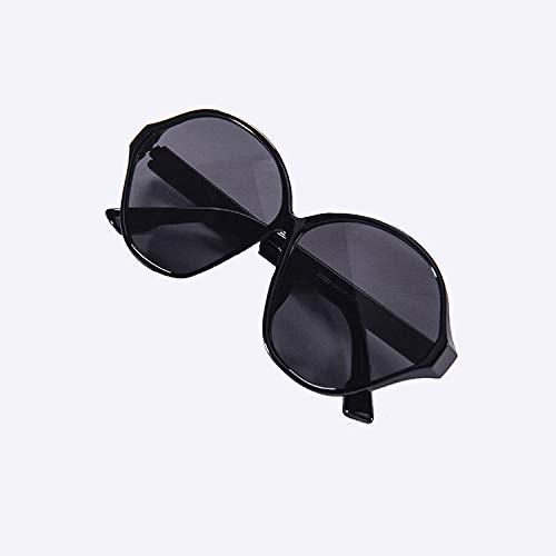 xinrongqu Sonnenbrillen - Mode Männer Und Frauen Sonnenbrillen Schlanke Sonnenbrille Am Meer Urlaub Kreativen Sonnenschirm Schwarzen Rahmen Schwarzen Film