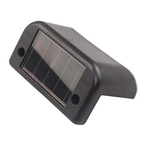 OSALADI Luci di ringhiera della Piattaforma Solare, 2PCS Luci LED Impermeabili a LED, Luci a gradini solari per recinto di Cortile Patio Paths Walkway (Black Shell/White Light)