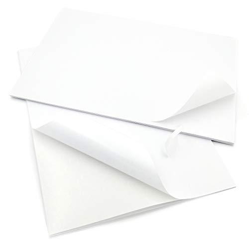 EVG Home & Office Supplies 30 x Easy Peel Crack Back Selbstklebende A4 blanko weiße Blätter personalisierbar weiß Blatt Aufkleber Etikettendruckpapier Blatt - Home Peel