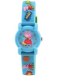 Peppa Pig PEP6 - Reloj analógico de cuarzo con correa de plástico azul
