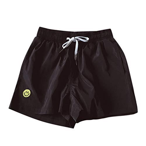 Shorts Männer,WQIANGHZI Herren Cargo Hose Shorts Sommer Freizeit Bermuda Kurze Hosen Chino Training Jogginghose Mit Kordel Regular Fit Größen -