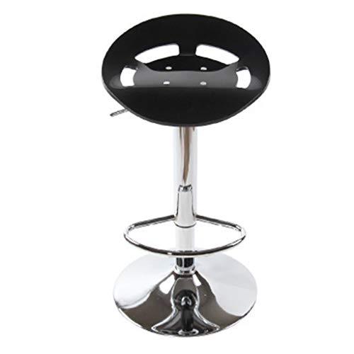 BWHTY Barhocker Home Barhocker, Einfache Mode Acryl Barhocker Barhocker Höhenverstellbar Mit Armlehnen Hocker (Farbe: # 17) - Weiße Acryl-barhocker