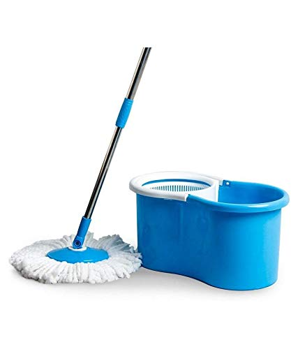 Heti Beauty Elegant Spin Plastic Mop with 1 Extra Refill 46 cm x 26 cm x 23 cm (Blue)