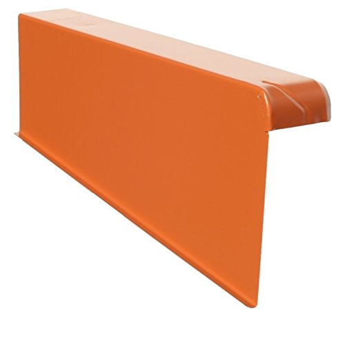 Windschutz-Ortgänge Ortgang Ortgangblech Aluminium 6/16 + Schraube (rechts, B-Ziegelrot)