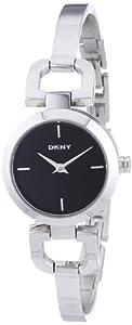 DKNY NY8541 - Reloj de cuarzo para mujer, con correa de acero inoxidable, color plateado de DKNY