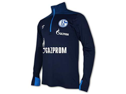 UMBRO FC Schalke 04 Fußball Training Top blau S04 Fussball Jersey Trikot Knappen, Größe:L