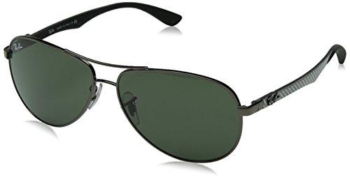 Ray-Ban Unisex - Erwachsene Sonnenbrille Rb8313, Einfarbig, Gr. 58 mm (Herstellergröße: 58), Grau (004)