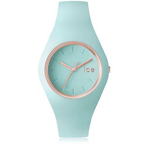 Ice-Watch - ICE glam pastel Aqua - Grüne Damenuhr mit Silikonarmband - 001068 (Medium)