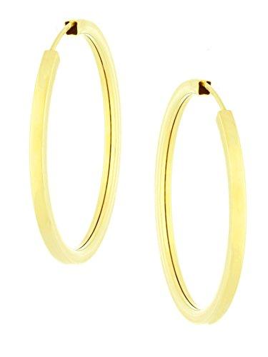 MyGold Damen Creolen Ohrringe Gelbgold 585 Gold (14 Karat) Durchmesser 38mm Ohne Steine Hochglanz Goldcreolen Groß Weihnachtsgeschenk Geschenk Goldohrringe Ohrschmuck Lorinana C-04118-G401-38mm/2.5mm