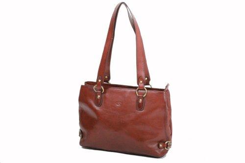 Sac shopping Katana en cuir de Vachette collet K 82617 Rouge