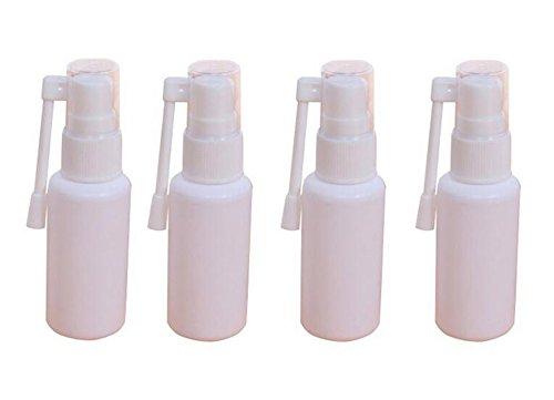 6 stücke 30ml weiß kunststoff leere tragbare nasenspray flasche nachfüllbar feine nebel sprayer mit 360 grad drehung zerstäuber make-up wasserbehälter für reisen nach hause persönlichen und (30ml)