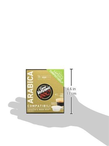 Caffè Vergnano 1882 Capsule Caffè Compatibili Lavazza A Modo Mio, Arabica - Confezione da 16 capsule 5 spesavip