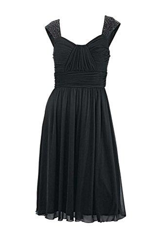 Ashley Brooke event Damen-Kleid Cocktailkleid mit Perlen Schwarz Größe 40