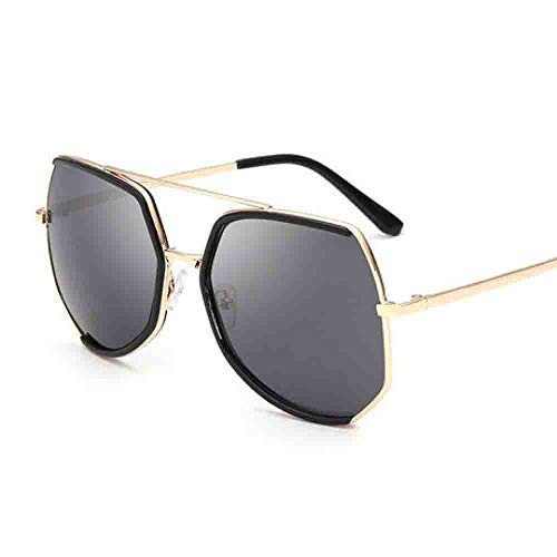 Hjyi Großer Rahmen rund um Gesichtspolgon Sonnenbrillen rahlos Unisex Retro uv400 Damen Farben markantem halbrahmen gläser Elegante getönt Klassische Outdoor trendigen reflektierende