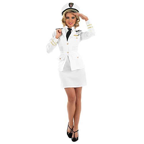 Lady-Marine-Offizier - Erwachsene Kostüm Kostüm - L