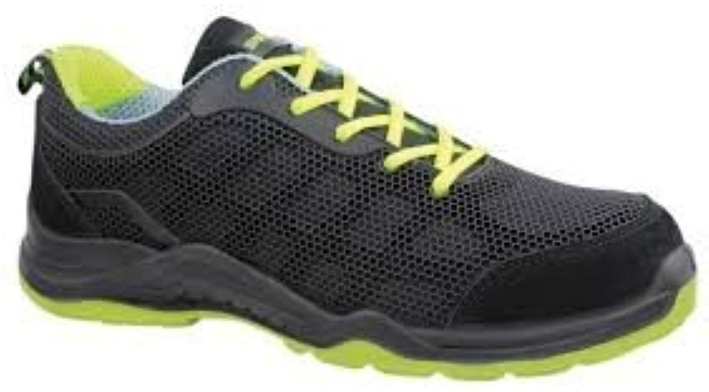 Safetop 24642 - Mario. zapato deportivo negro amarillo kevlar-compos s1p 42