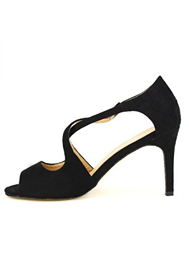 Cendriyon, Escarpin Noir COCO PERLA Feutrine Chaussures Femme Noir