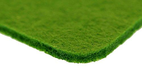 Filz Untersetzer Eckig (Abgerundet) 8 Stück Grün 10x10x0,3cm