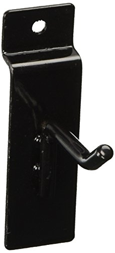 5,1cm Slatwall Haken für Lamelle Panel Display–25PCS Box–1/10,2cm Dia Draht–Standard Duty–Schwarz Farbe