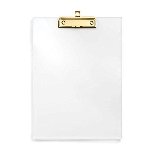 uniqooo Acryl klar Klemmbrett mit Gold Clip, ideal für Seminare, workshops und Veranstaltungen (Womens Baseball Gold)