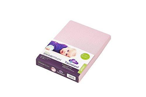 Träumeland TT02043 Jersey Spannbetttuch für Babymatratze 60 x 120 cm + 70 x 140 cm - Jersey-material Bettbezug