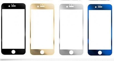 Apple Iphone Front Tempered Glass Metal Bumper Frame Case For iPhone 6 Plus - Gold Color  available at amazon for Rs.199