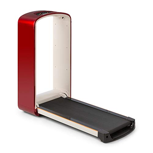 Klarfit Runtasy SE Laufband - Heimtrainer, Leistung: 1,5 PS, Lauffläche: 40 x 100 cm, 0,8-10 km/h, max. 110kg, PulseControl, klappbar, integrierte Bluetooth Lautsprecher, rot