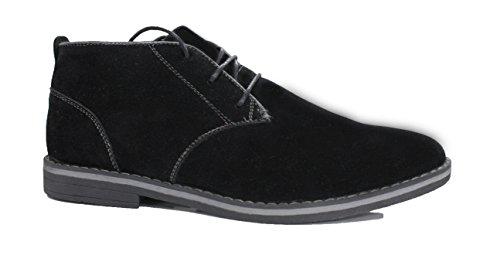 Polacchine uomo nero dark scarpe sneaker casual camoscio FKS (43)