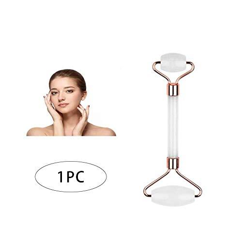Schönheitsmassager Gesichtsrolle Hautpflege-Beauty-Tool Quarz-Gesichtsrolle Gesichtshautmassagegerät Facelift-Werkzeug Linderung von Schmerzen white