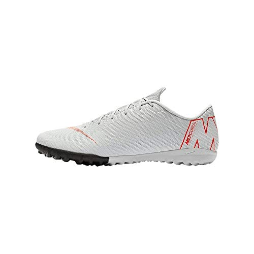 Nike Herren Mercurial Vapor XII Academy TF Fußballschuhe, Grau/Rot, 41 EU - Fußball 2014 Schuhe Nike