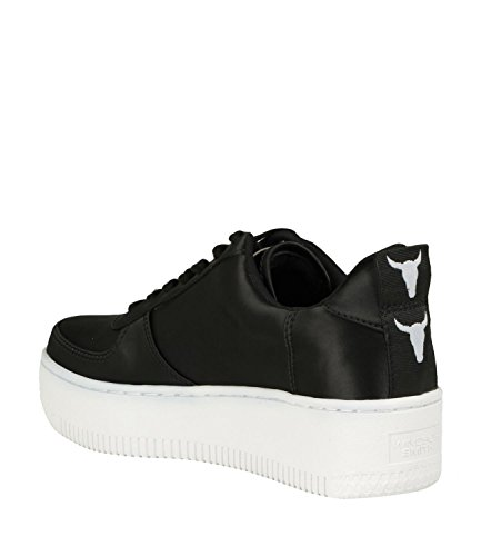 Windsor Smith WINDSORSMITH Sneaker RACERR SATIN BLACK WHITE Nero