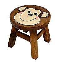 Bomzers Bargains Children Kids Handmade Acacia Wood Animals Monkey Elephant Fox Wooden Kids Stool Seat Step Fair Trade From Thailand Gift