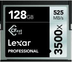Lexar lc128crbeu3500 - scheda di memoria compact flash professionale 3500x (525mb/s), 128 gb