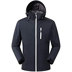 Amazon Brand: Eono Essentials Men's Ski Jacket, Black, M, mens ski jackets
