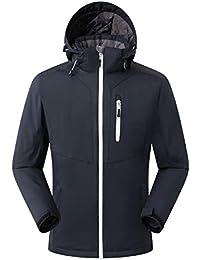 Eono Essentials - Chaqueta de esquí para hombre (negro, ...