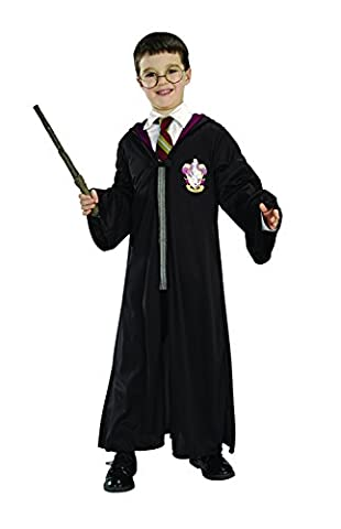 Rubie's Official Harry Potter Pack Gryffindor Robe, Wand and Glasses Child's Costume - Standard Size