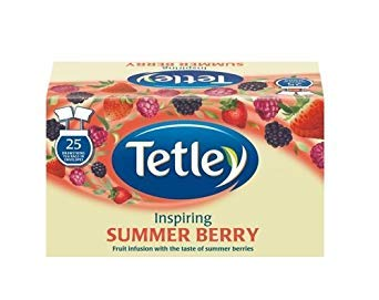 Tetley Raspberry and Pomegranate Tea Bags (Pack of 25)