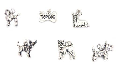 dog-breeds-charms-poodle-chihuahua-pug-westie-yorkie-bone
