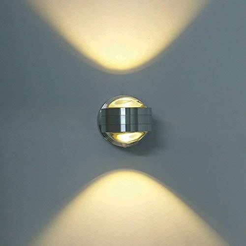 Lightess Moderne 6W LED Wandleuchte Innen Aluminium kreative moderne minimalistische Kulisse LED Wandlampe Nachtwandlampe Schlafzimmerlampe Wohnzimmer Flur Flurlampe, warmes Weiß