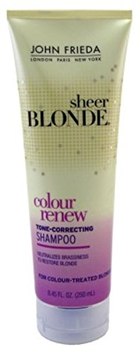 John Frieda Sheer Blonde Color Renew Shampoo 8.45oz (3 Pack) by John Frieda