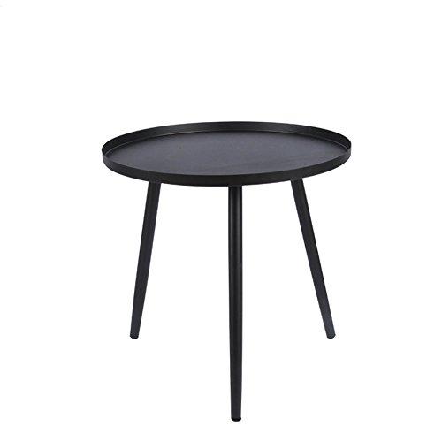 MGMDIAN Nordic schmiedeeisen kleine couchtisch Wohnzimmer Mini Schlafzimmer runden kleinen Tisch Kleiner multifunktionaler Klapptisch (Farbe : Schwarz, größe : 40 * 40 * 42cm) - 42 Runde Esstisch