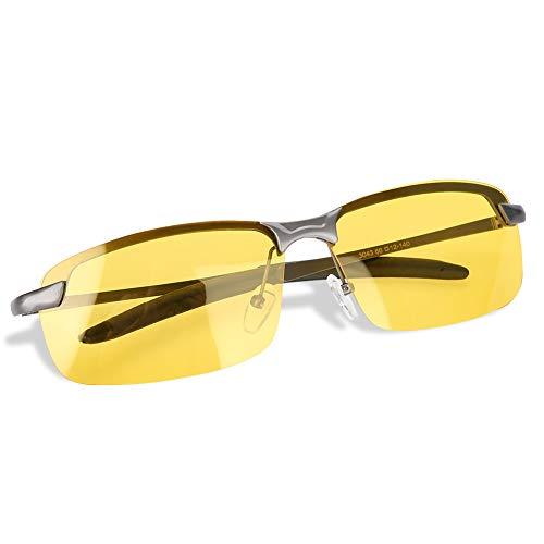 Gafas de conducción Nocturna, Marco de Metal Ajustable Gafas de conducción Nocturna HD polarizadas Gafas antideslumbrantes de Seguridad Unisex