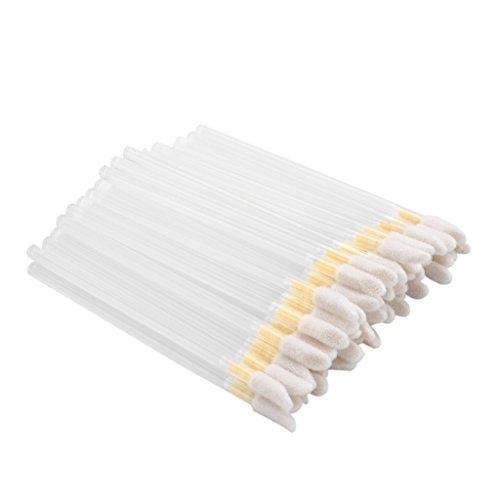 Baoblaze Kit 50/100pcs Brosse Jetable à Lip Gloss Repulpant à Lèvres - Pinceau à Rouge à Lèvres Liquide - 50pcs