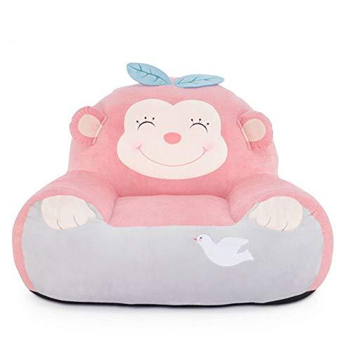 WAYERTY Kinder Sofa, Kindersessel Cartoon Mädchen Mini Baby-Couch Sitz Faul Tatami Polstermöbel Sitzkissen Entfernbar Mini-Sessel-RosaA W60xH48cm(24x19inch) - Wohnzimmer-polstermöbel, Tisch